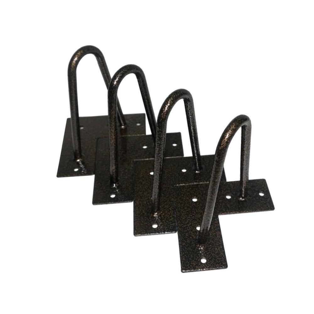 4 pcs or noir pieds de meubles canape 15 cm bricolage table jambes en epingle a cheveux 2 tige en fer massif jambes en epingle a cheveux pour lit