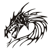 Fire Dragon Head wall sticker home decorative stickers living room wall pictures quote wallpaper