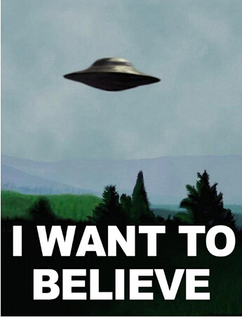 X Files I Want To Believe DIY frame Posters and print 12x18.s