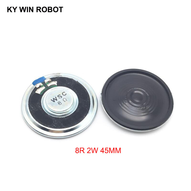 2pcs/lot New Ultra-thin Speaker 8 Ohms 2 Watt 2W 8R Speaker Diameter 45MM 4.5CM Thickness 5.5MM