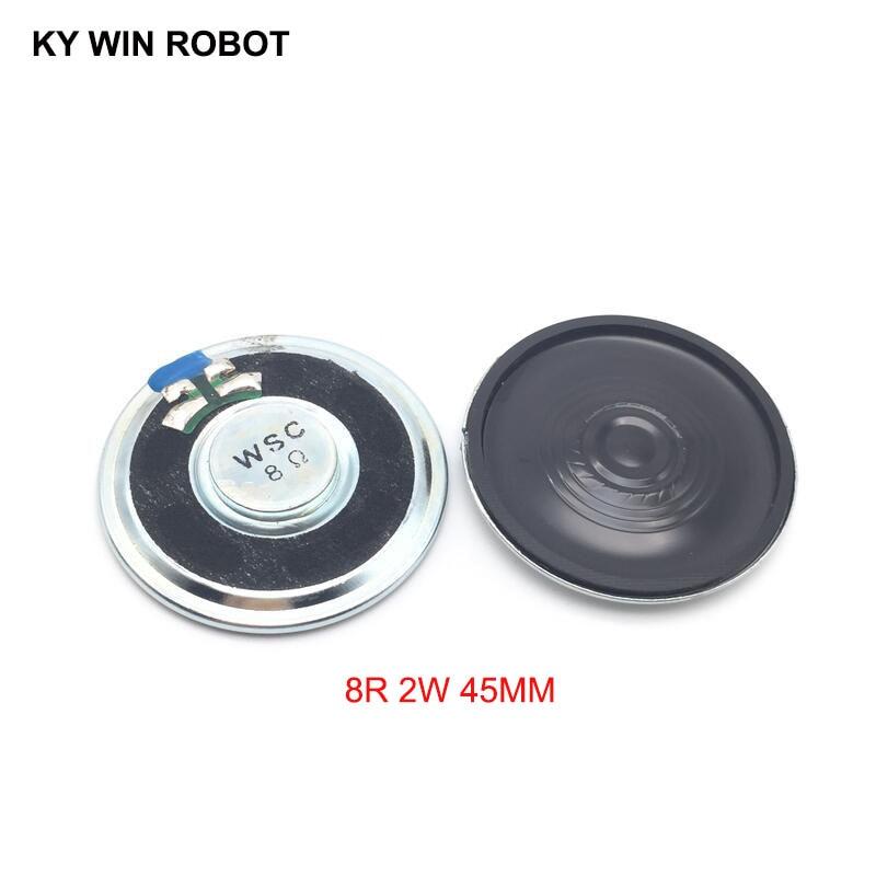 2pcs/lot New Ultra-thin Speaker 8 Ohms 2 Watt 2W 8R Speaker Diameter 45MM 4.5CM Thickness 5.5MM