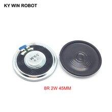 2pcs/lot New Ultra-thin speaker 8 ohms 2 watt 2W 8R Diameter 45MM 4.5CM thickness 5.5MM