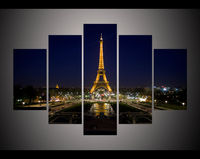 modern living room bedroom wall decor home decor eiffel tower at night cityscape canvas Wall Art Picture print Painting /PT0473