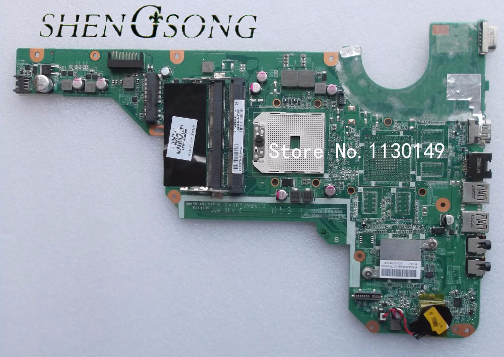 Free Shipping 683029-501 683029-001 for HP Pavilion G4-2000 G6 G6-2000 G7 Laptop Motherboard Mainboard DA0R53MB6E0 DA0R53MB6E1 683029 501 683029 001 main board fit for hp pavilion g4 g6 g7 g4 2000 g6 2000 laptop motherboard socket fs1 ddr3