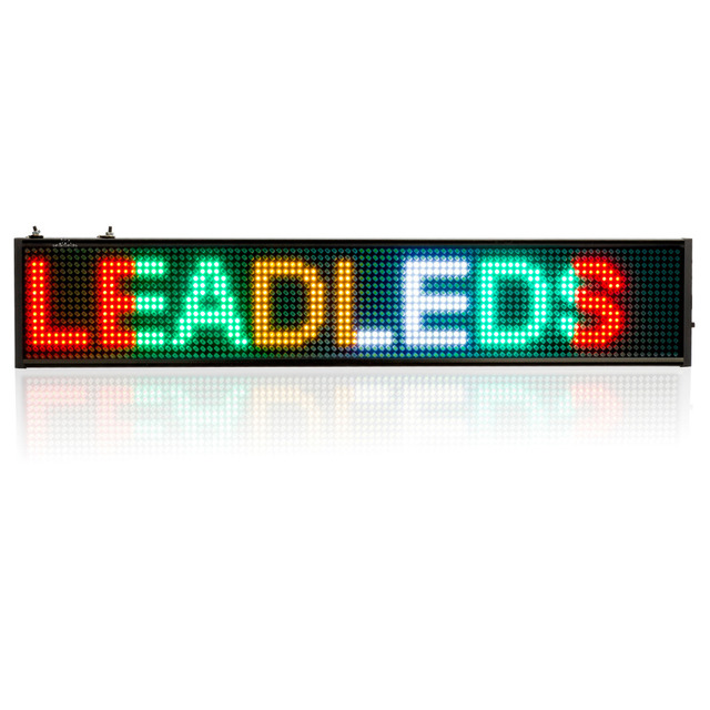 New P5 SMD Led Sign Programmable Scrolling Message LED Display Board Display to Red, green, yellow, white 4  color