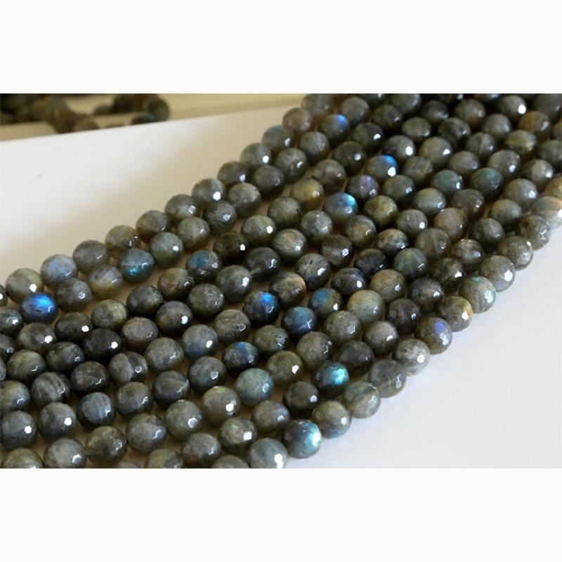 """6//8//10//12//14mm Véritable Naturel Bleu Turquoise Gemstone Round Beads Necklace 18/"""""""