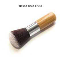 1PCS Professional Makeup brushes Bamboo Handle Powder Concealer Liquid Foundation Makeup Tools Beauty Cosmetics  Brusher