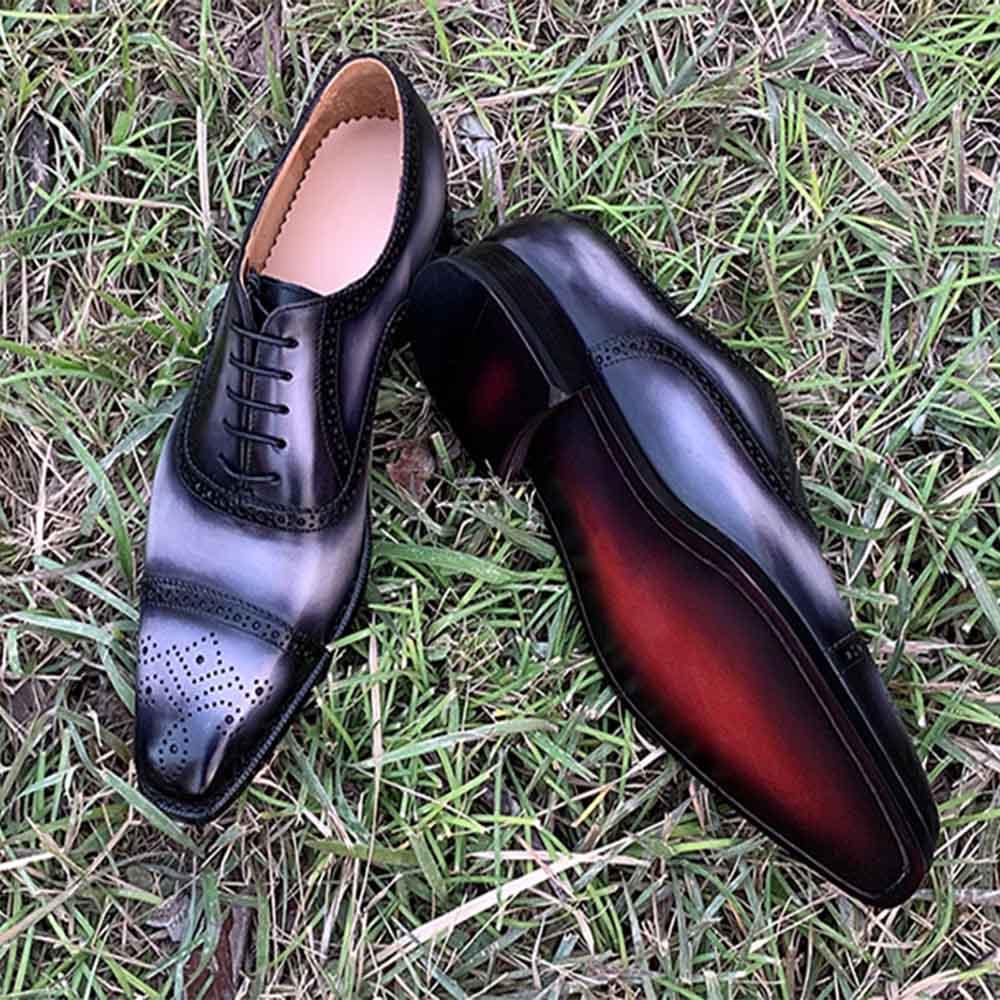 05afcfac85eba5 Cheap Sipriks de lujo para hombre Goodyear zapatos personalizados italianos  Patina cuero Brogue Oxfords hombres zapatos