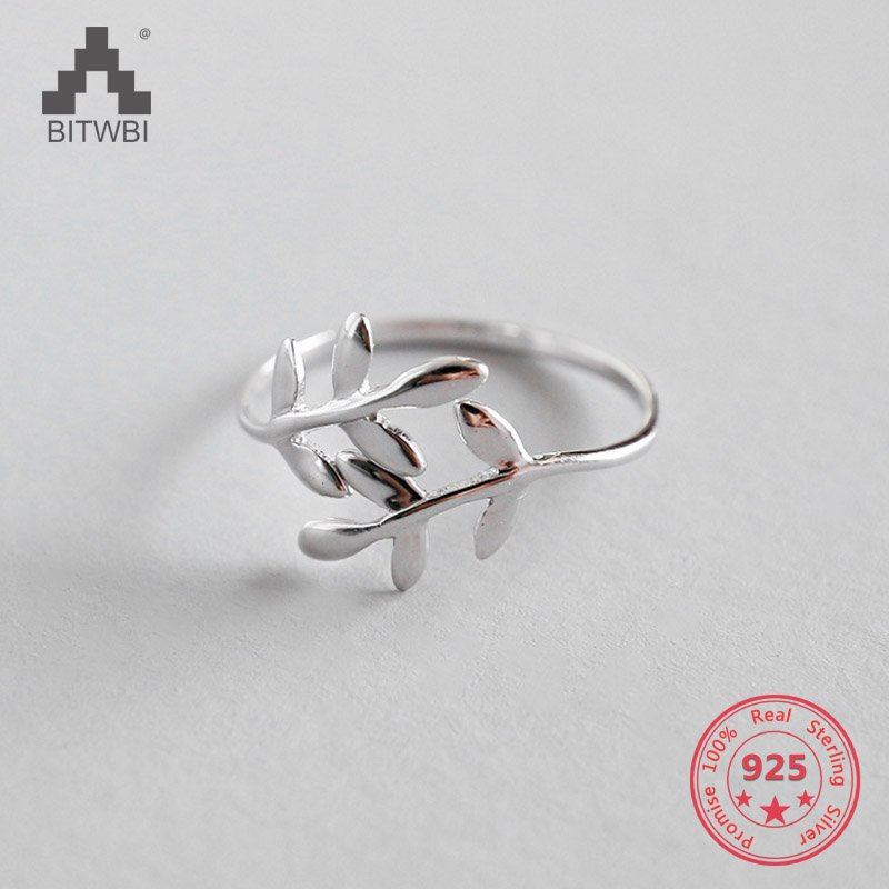 925 Sterling Silver Olive Open Rings For Women Original Handmade Lady Sterling Silver Rings Jewelry