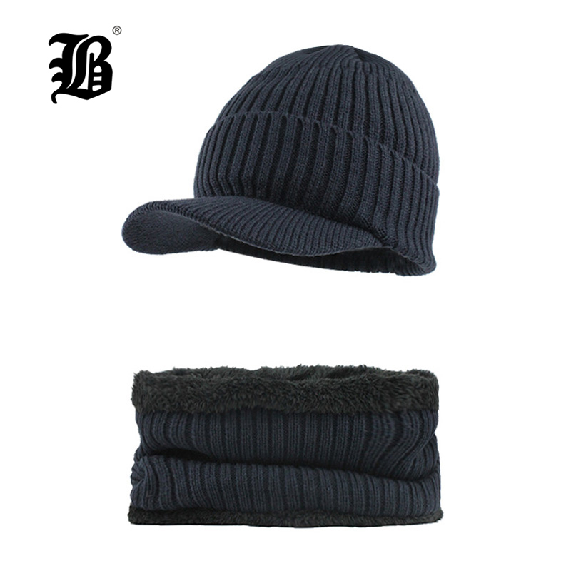 [FLB] Brand bone men's Winter Hat knitted wool   beanies   men Hip-Hop capTurban Caps   Skullies   Balaclava Hats For women gorrosF18026