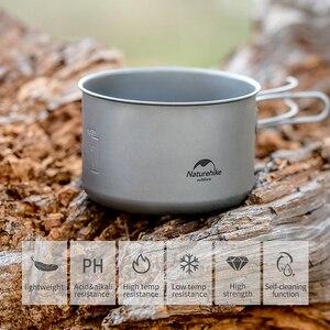 Image 4 - Naturehike vajilla de titanio para 2 3 personas, pícnic al aire libre, olla de Camping, cacerola de cocina, utensilios de cocina ultraligeros de titanio para acampar