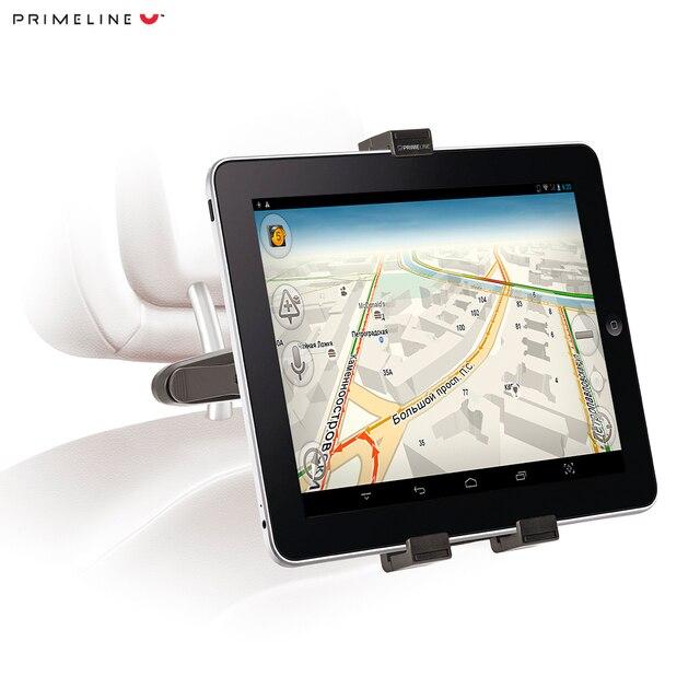 """Автомобильный держатель для планшетов 7""""-12"""", держатель на подголовник и лобовое стекло, Prime Line"""