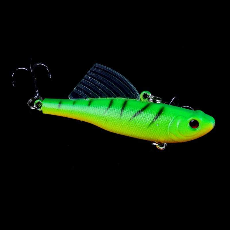 Купить с кэшбэком HENGJIA 5PCS fishing Lure Fly Swing Minnow Rattlin hook lure baits 17.2g/6.5cm 5color