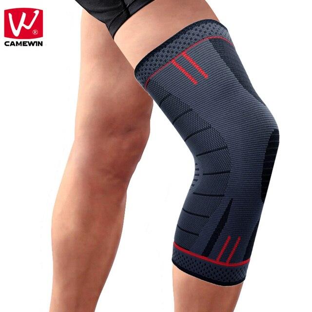 CAMEWIN 1 шт. наколенника, колено Поддержка для бега, артрит, разрыв мениска, спорт, совместное боли и восстановления после травм