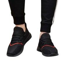 accfb8524 حذاء كاجوال الرجال شبكة تنفس احذية الجري البرية رياضية خفيفة الوزن تنيس  masculino zapatillas hombre ديبورتيفا