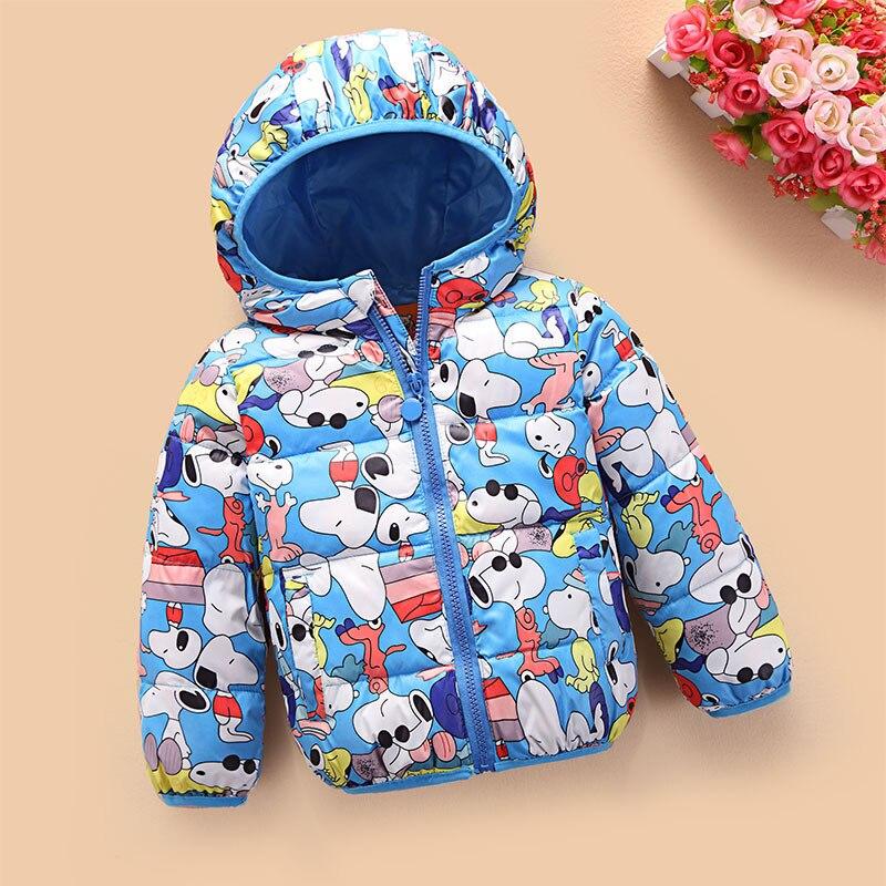 Çocuk Giyim Sonbahar ve Kış 2016 Kız Elbise Karikatür Rüzgar Geçirmez ceket Çocuklar Erkek Mont Kısa paragraf Ceket Dış Giyim