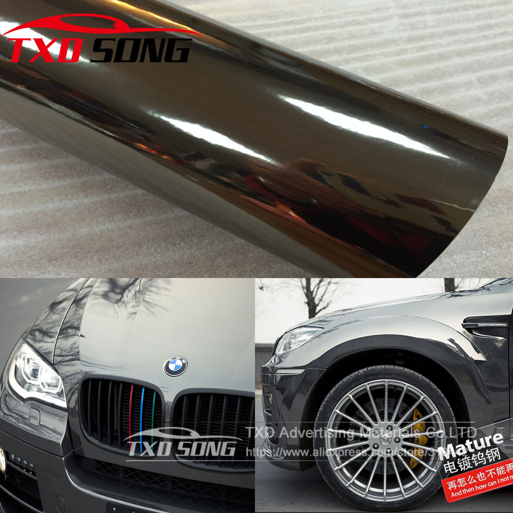 Best Quality Flexible Black Chrome Mirror Vinyl Wrapping Film For Car Sticker Air Free Bubble Waterproof Chrome mirror film-in Car Stickers from Automobiles & Motorcycles