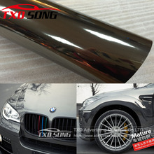 Best Quality Flexible Black Chrome Mirror Vinyl Wrapping Film For Car Sticker Air Free Bubble Waterproof Chrome mirror film