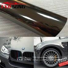 Película protectora de vinilo de Cromo Negro Flexible de la mejor calidad para La etiqueta engomada del coche película de espejo de cromo impermeable de burbujas sin aire