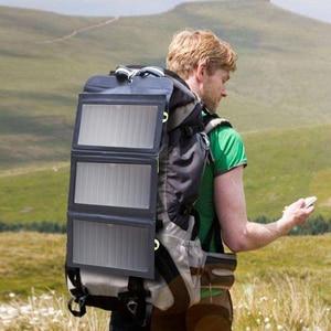 Image 5 - ALLPOWERS 5V 21W 내장 10000mAh 배터리 휴대 전화 용 휴대용 태양열 충전기