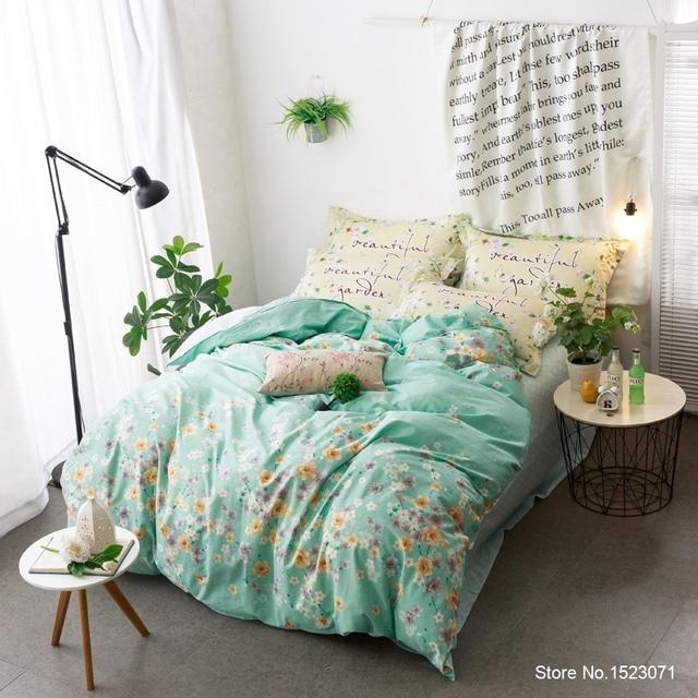 Blaue Blume Luxus Bohemian Stil Leinenbaumwollgewebe Bettlaken Bettwäsche  Queen Size Bettbezug Bettdecke Schlafzimmer Dekoration Gallery