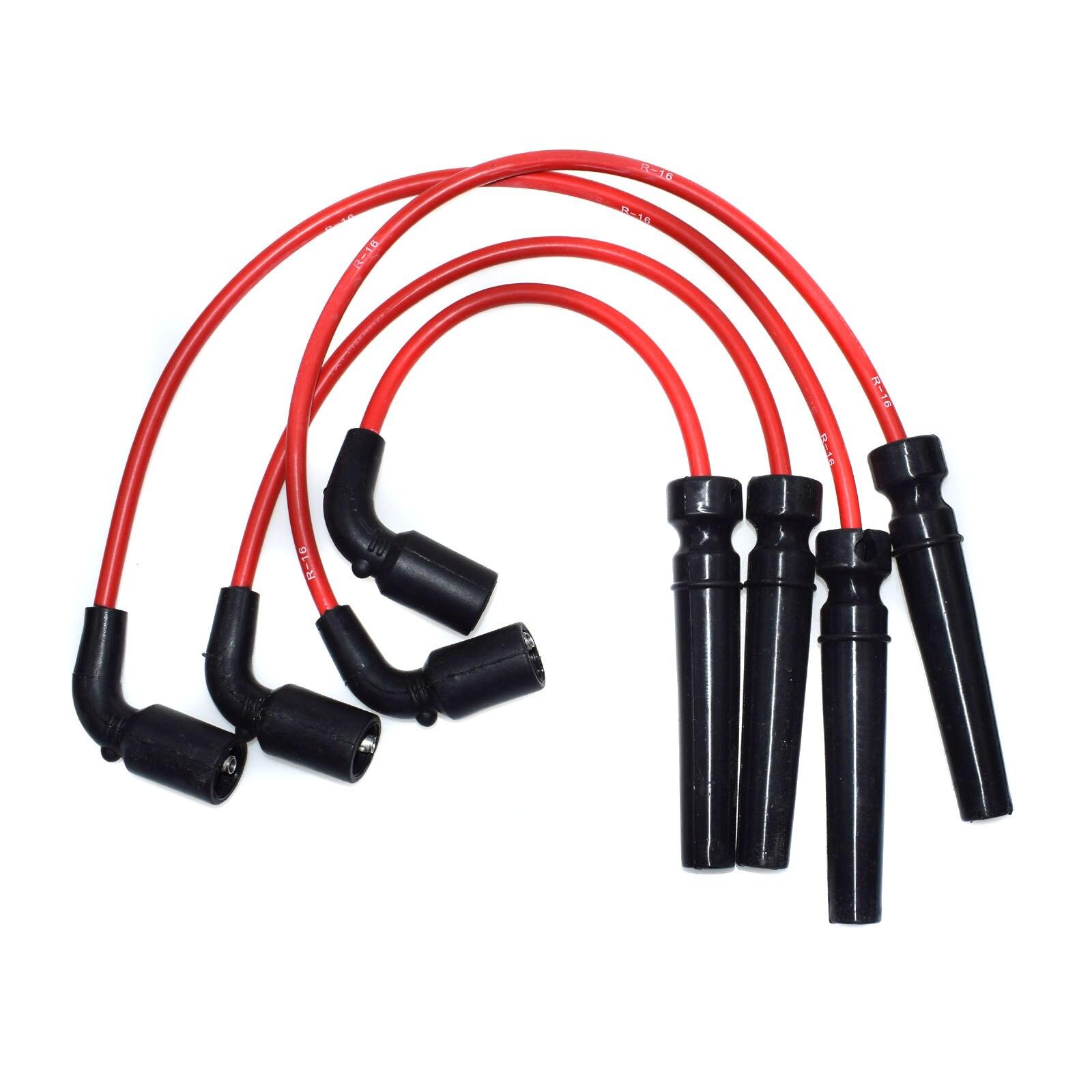 New Spark Plug Ignition Wire Set For Chevrolet Aveo Pontiac Suzuki Swift KRX015