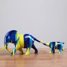 лучшая цена Creative Animal Resin Crafts Elephant miniature garden decor statue birthday gift tabletop Furnishing articles home accessories