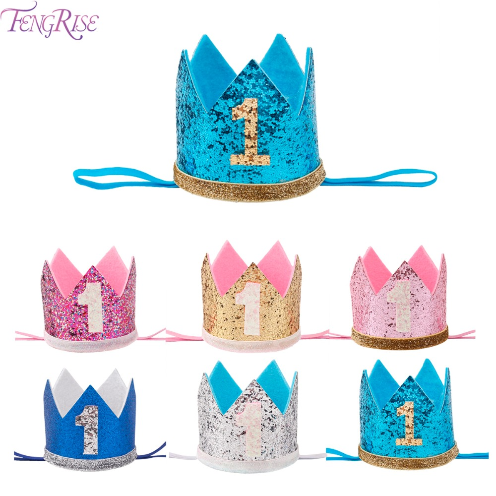 FENGRISE My First Birthday Party Hats Princess Crown Boy Girl I AM ONE Happy 1st Birthday Party Decorations Kids Anniversary
