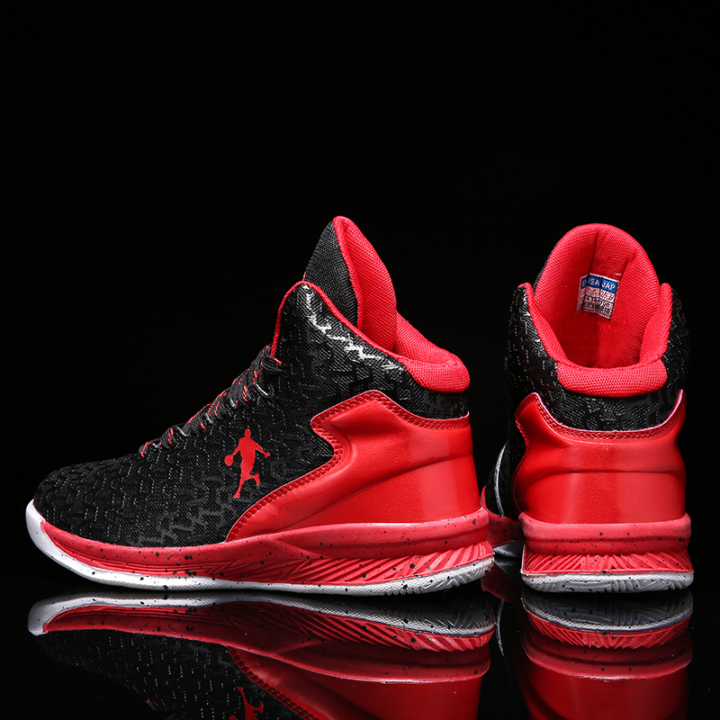 Image 2 - Couple Jordan Basketball Shoes Men Women Air Cushion Sneakers Unisex Wear Resistant Basketball Sneakers Breathable Sport Shoes-in Basketball Shoes from Sports & Entertainment