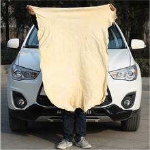 40*65cm Natural Sheepskin Microfiber Chamois Cloth wash Mitts Microfiber Car Cleaning Microfiber Suede Cloth Shammy Cloth