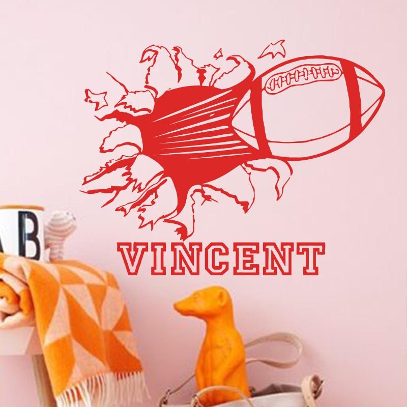Seni desain fashion dekorasi rumah, Kutipan nama vinyl, Rugby sepak - Dekorasi rumah - Foto 4