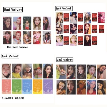 Kpop Red Velvet Magic Red Summer RBB Photo card Autograph Self made Photocard Cards