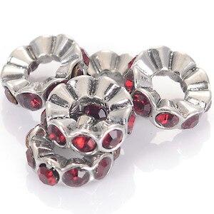 Miasol хрустальные блестящие бусины с большим отверстием на день рождения, бусины-разделители для самостоятельного изготовления браслетов, п...