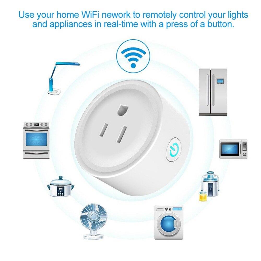 Wifi Prise Mini Smart Power Socket Plug pour Apple HomeKit pour Amazon Alexa Voix Télécommande Smart Wifi Plug