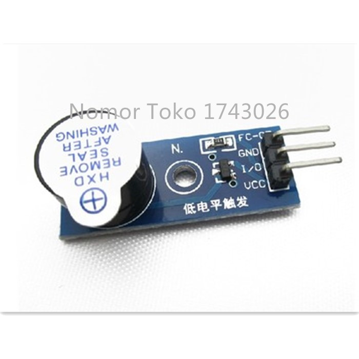 Pengiriman gratis 5 pcs/lot Electronic building block active buzzer module low level trigger buzzer control panel ic C1 ...