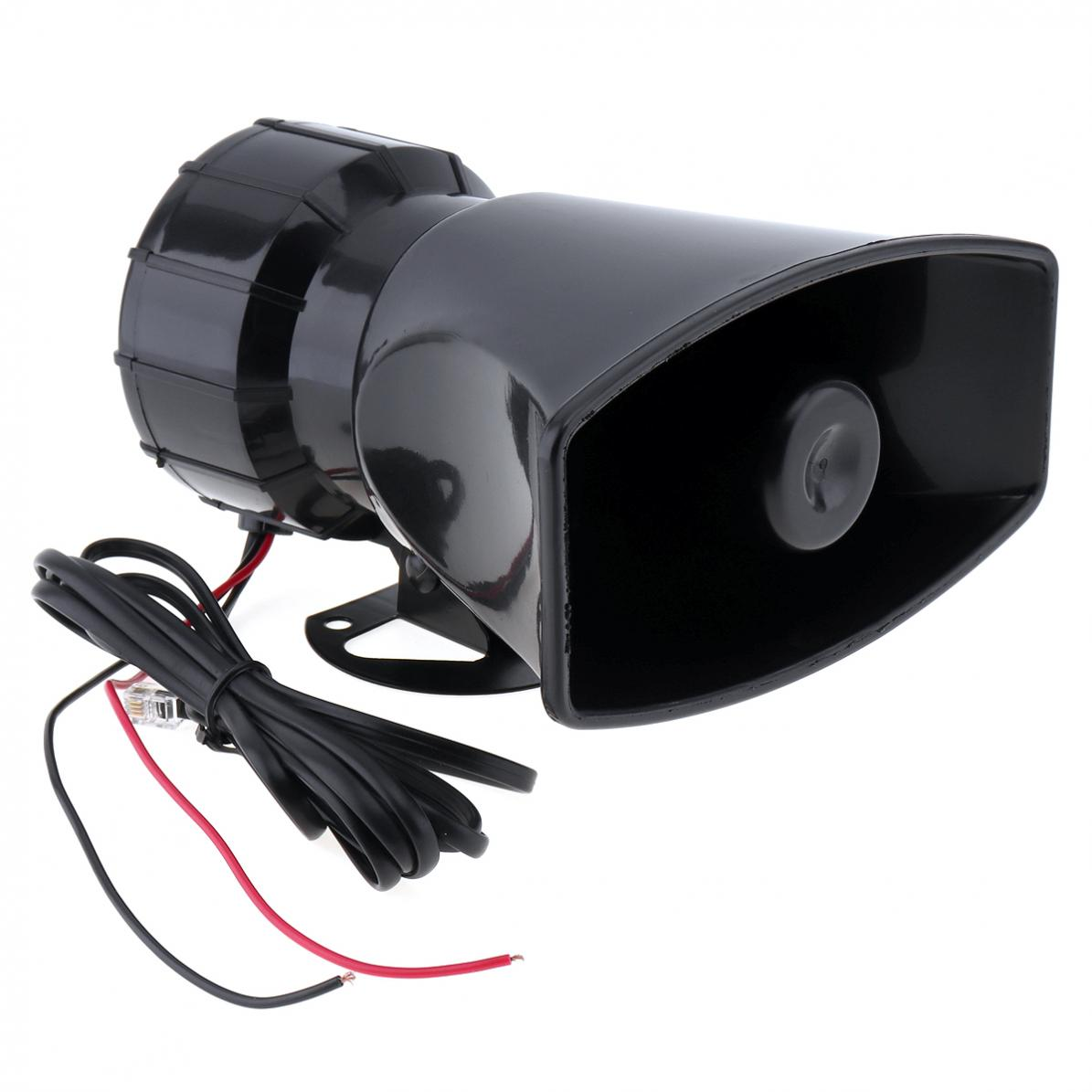 100W 12V 3 Sound Car Emergency Siren Car Siren Air Horn Mic PA Speaker Electronic Warning Alarm Ambulance Amplifier Hooter in Multi tone Claxon Horns from Automobiles Motorcycles