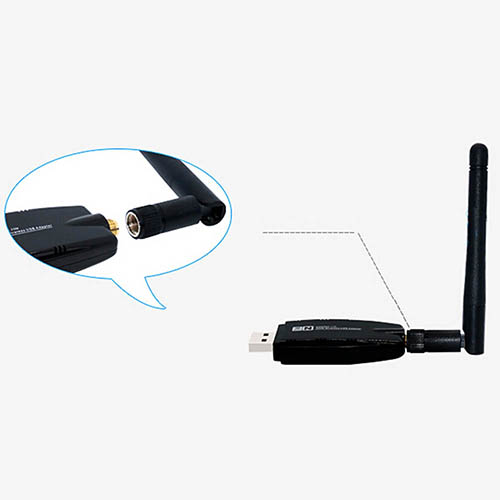 Portable Mobile Hotspot 300 Mbps Date Rate USB WiFi Dongle Adapter + Antenna