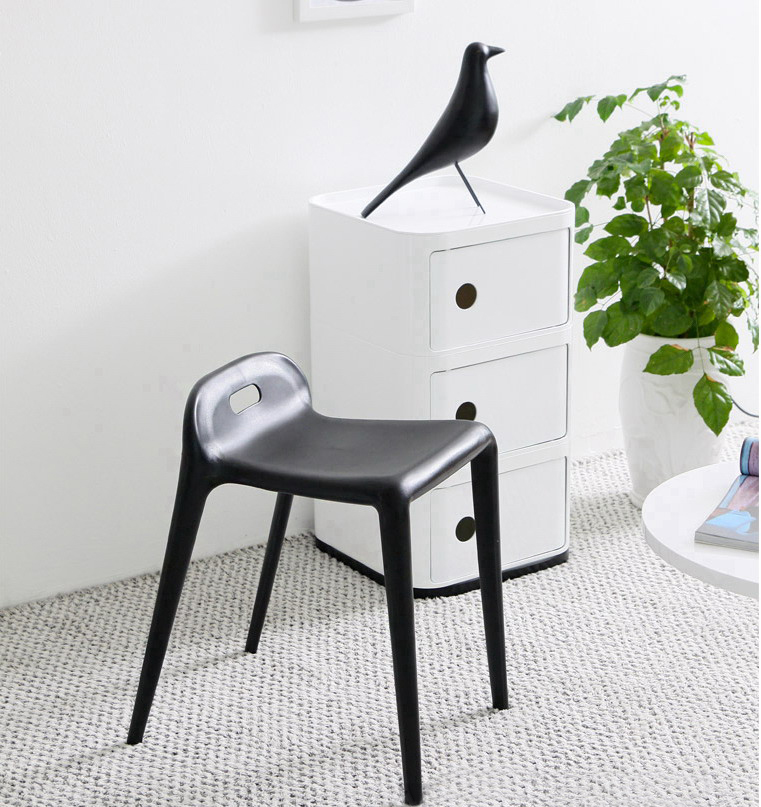 Modern Contemporary Urban Design Kitchen Dining Side Chair: Modern Design Plastic Stackable Stool Living Room Stool