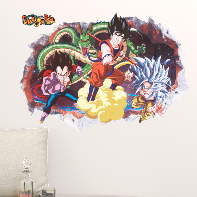 Dragon Ball Z Room Wall Decorated