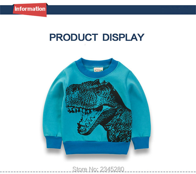 8For Boys Girls T Shirt Sweater Clothes Bobo Choses T-Shirts Child Long Sleeve Dinosaur Kids Clothing Christmas New Tops Next 06