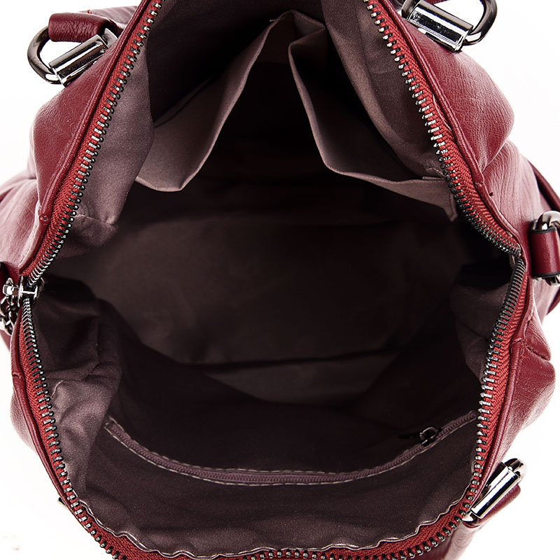 Image 5 - LANYIBAIGE Women Backpack High Quality Leather Pure Color Backpacks School Bags for Teenagers Girls Backpacks Herald Fashion-in Backpacks from Luggage & Bags