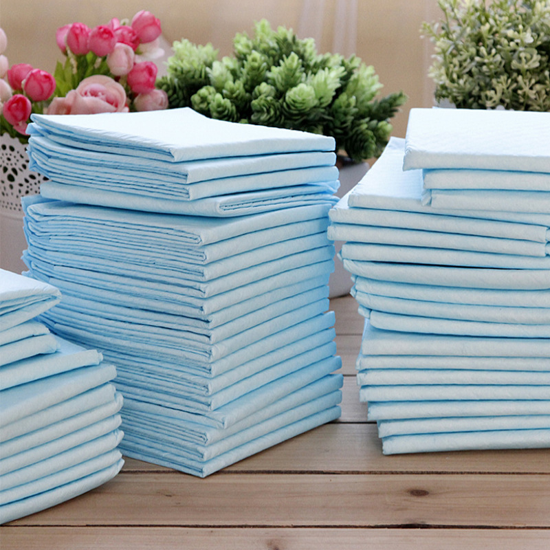 SYDZSW 33*45cm 10pcs Disposable Dog Diapers Super Absorbent Puppy Pet Diapers Natural Wood Healthy Clean Dog Cat Toilet Mat