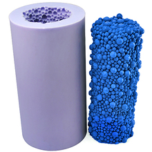 Foam Cylinder Shape Candle Silicone Mold DIY Handmade Soap Mould Craft Resin Clay Decorating Tool