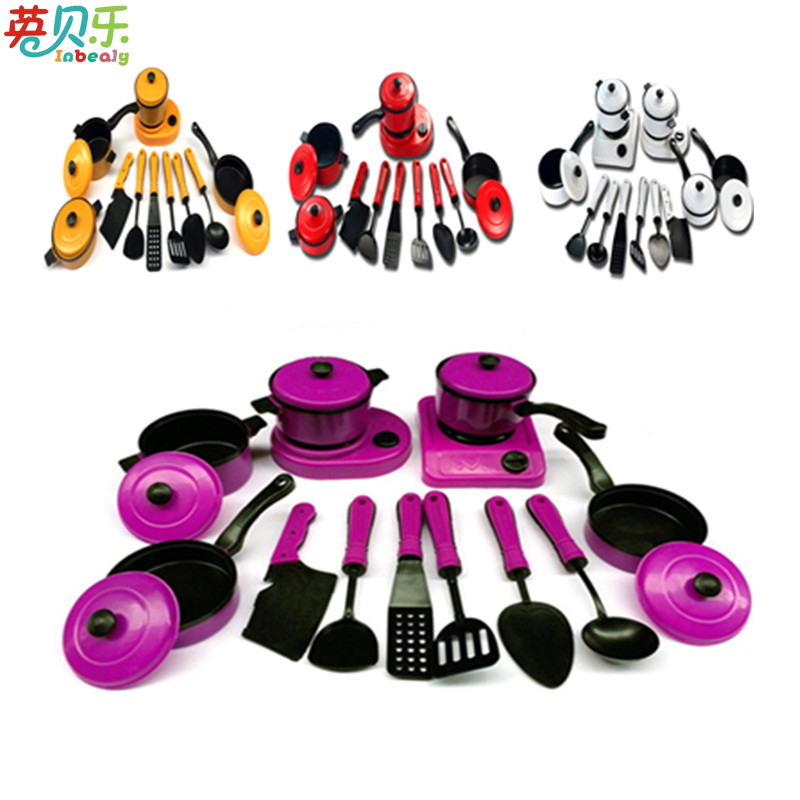 Kids Kitchen Set Pretend Play Kitchen Utensils Toys Educational Kids Toy Artificial Tableware Cooking Pots Children Pans Foo