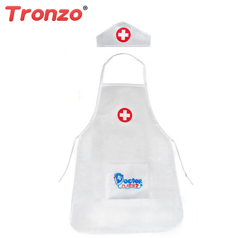 Tronzo 2018 New 1Pcs Pretend Play Doctor Clothing Toys Children Role Play Nurse Doctor Set Toys For Girls Gift Drop Shipping
