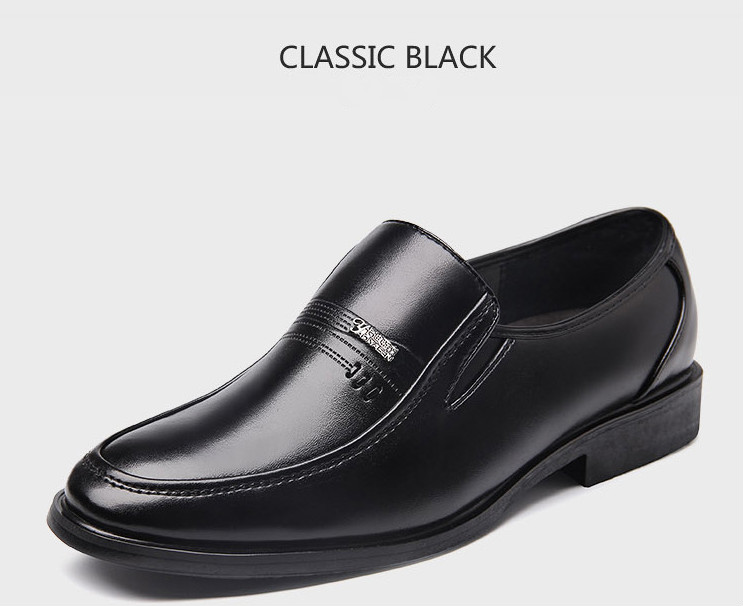 PHLIY XUAN New 2020 Fashion Men Dress Shoes Leather Pointed Toe Classic Black Business Mens Shoes Chaussures Hommes En Cuir