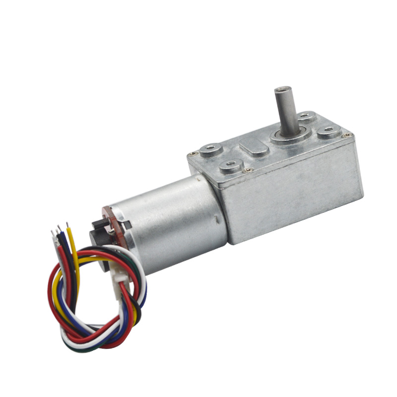 40:1 Metal Reducer <font><b>High</b></font> <font><b>Torque</b></font> Gearmotors With 11 PPR <font><b>Encoder</b></font> 6V 12V <font><b>24V</b></font> <font><b>DC</b></font> Worm <font><b>Gear</b></font> <font><b>Motor</b></font> For Smart Control image