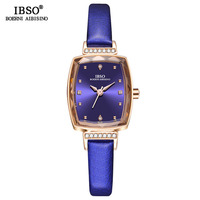 IBSO 2019 Female Watch Purple Small Luxury Fashion Rectangular Watches for Women Colorful Cut Glass Watch Montre Relogio S8639L
