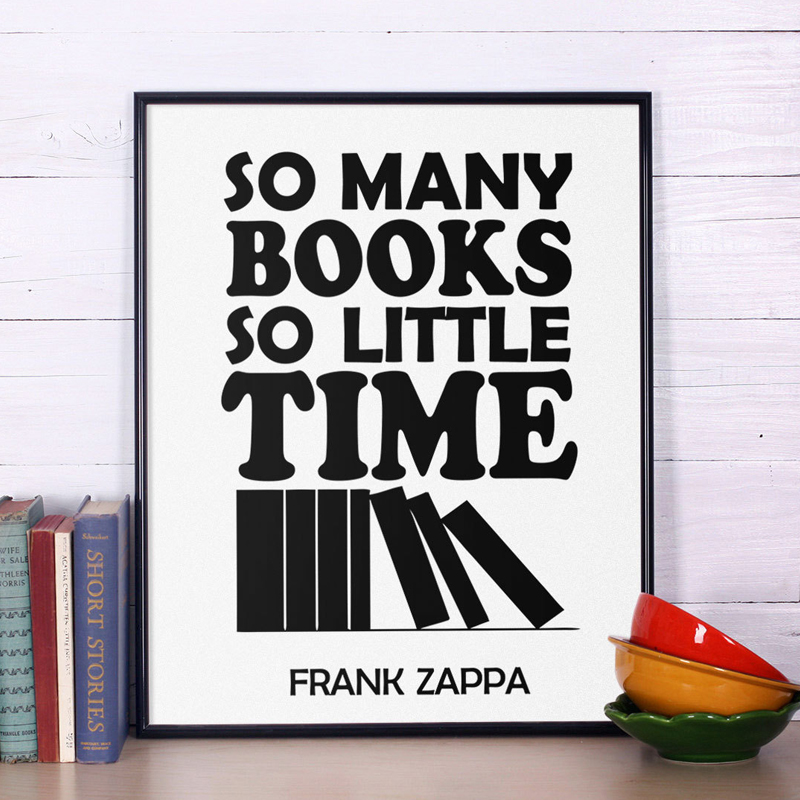 Classic inspirational quotes so many books canvas painting wall art print poster pictures