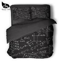 Sonho ns equação design matemática equações preto conjunto de cama gekk sci-fi colcha capa fronha personalizado têxteis para casa